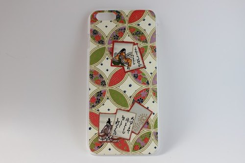 Cloisonne pattern Japanese paper 6Plus iPhone cover