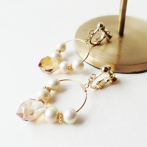 Czech drop beads Earrings