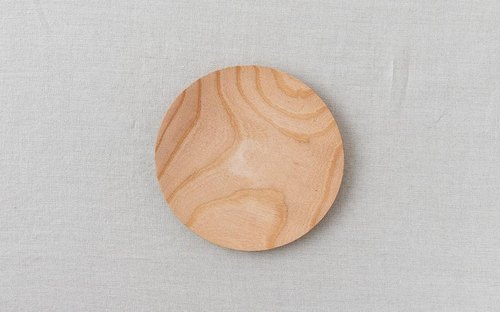 Wood 18cm of wooden plate zelkova of the potter's wheel grinder