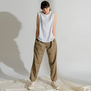 hao Plaid Wide Pants 格纹打折裤