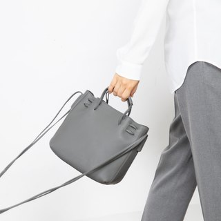 Clyde Cloud XS Leather Bucket Bag in Sapphire Color