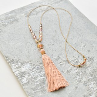 "Necklace/Tassel Necklace ""sunset"""