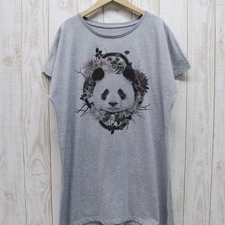 ronronPANDA One piece Tee Flower Frame (Heather Gray) / RPT 024 - GR
