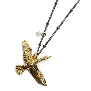 Swan Necklace GD Swansea GD gold color / necklace NE393GD