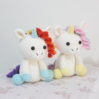 彩虹幻彩独角兽 Unicorn Pair Pair 手工钩织