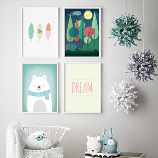 Woodland Nursery Decor 可定制化 海报