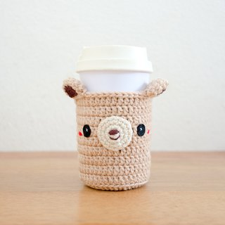 Crochet Cozy Cup - The Cute Bear / Coffee Sleeve, Starbuck.