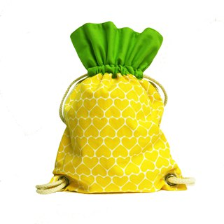 Ang Ku Kueh Girl's B.F.F. Drawstring Backpack (Pineapple) 水果系列 凤梨 抽绳包包