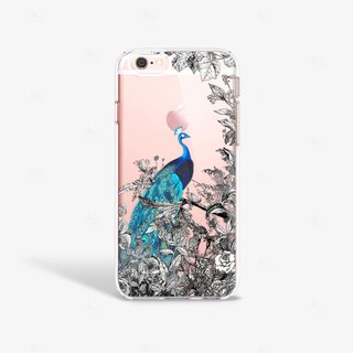 Peacock iPhone 7 Case Clear iPhone 8 Case Clear iPhone 7 Plus Case iPhone 6S