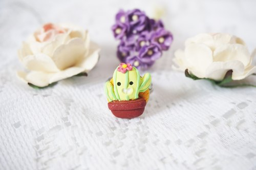 cute cacti ring jewelry