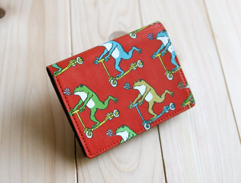 Business Cards · Card Case Frogs Kun Red Red