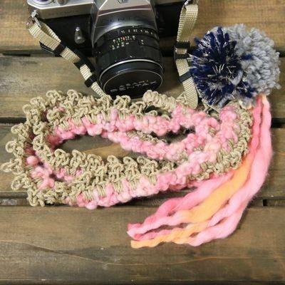 <In Stock> Limited color knit Asahimo camera strap -twilight