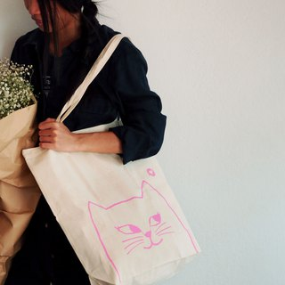SMALL BAG HAND PRINT WITH  CAT.