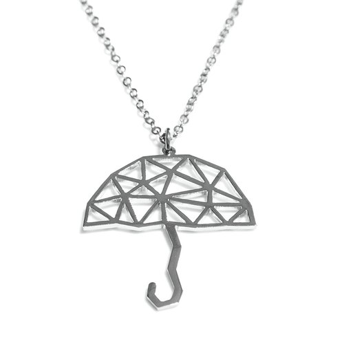 Abstract polygon umbrella shape pendant