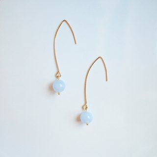 Blue Lace Agedo Earrings * Blue Stripe Agate