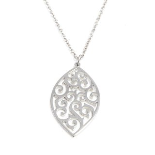 Decorative pattern in marquise shape pendant