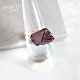 FREE Gift wrapping 14kgf*AAA Garnet wrapped ring #9~#13