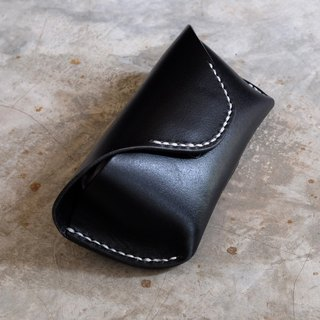 Genuine Leather Handmade Sunglasses Case / Black