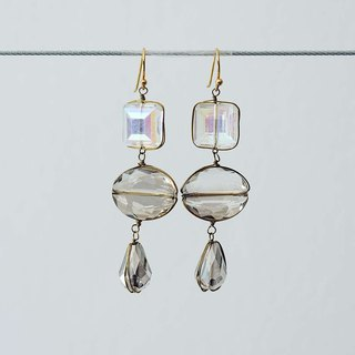 Prismatic Clear Glass Crystal Earrings