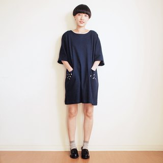 rainy pocket dress : navy