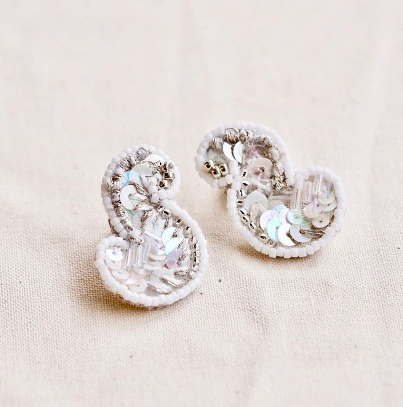 Cloud shaped earrings f