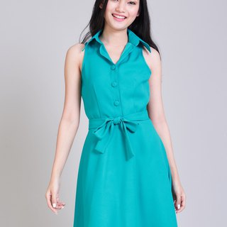 Jade Green Dress Work Dresses Summer Dress Sundress Shirt Dress Swing Dres