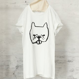 French bulldog T-shirt French Bulldog T-shirt (White / Gray) 【DOG】