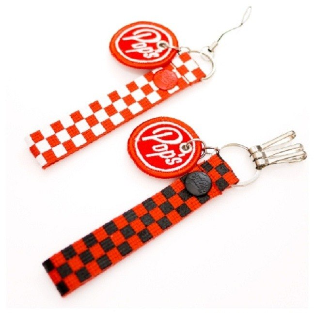 The Big Pop Checkerboard Key chain 古美式速食钥匙圈