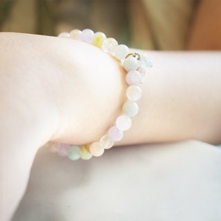 Pastel lucky stone bracelet from Niyome craft.