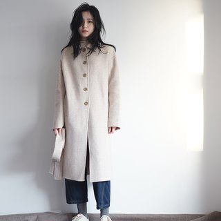Oatmeal Color Wool Coat