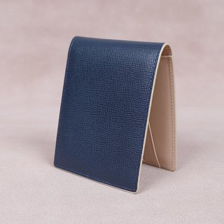 Money Clip / Card Case / Italy Cow Leather(Navy)