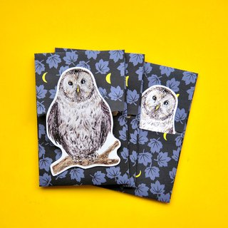 small envelope with card/Owl