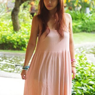 Resort maxi dress <pink>