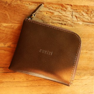 Wallet - Side / Leather Wallet / Leather Bag - Khaki Green (Grey Green)