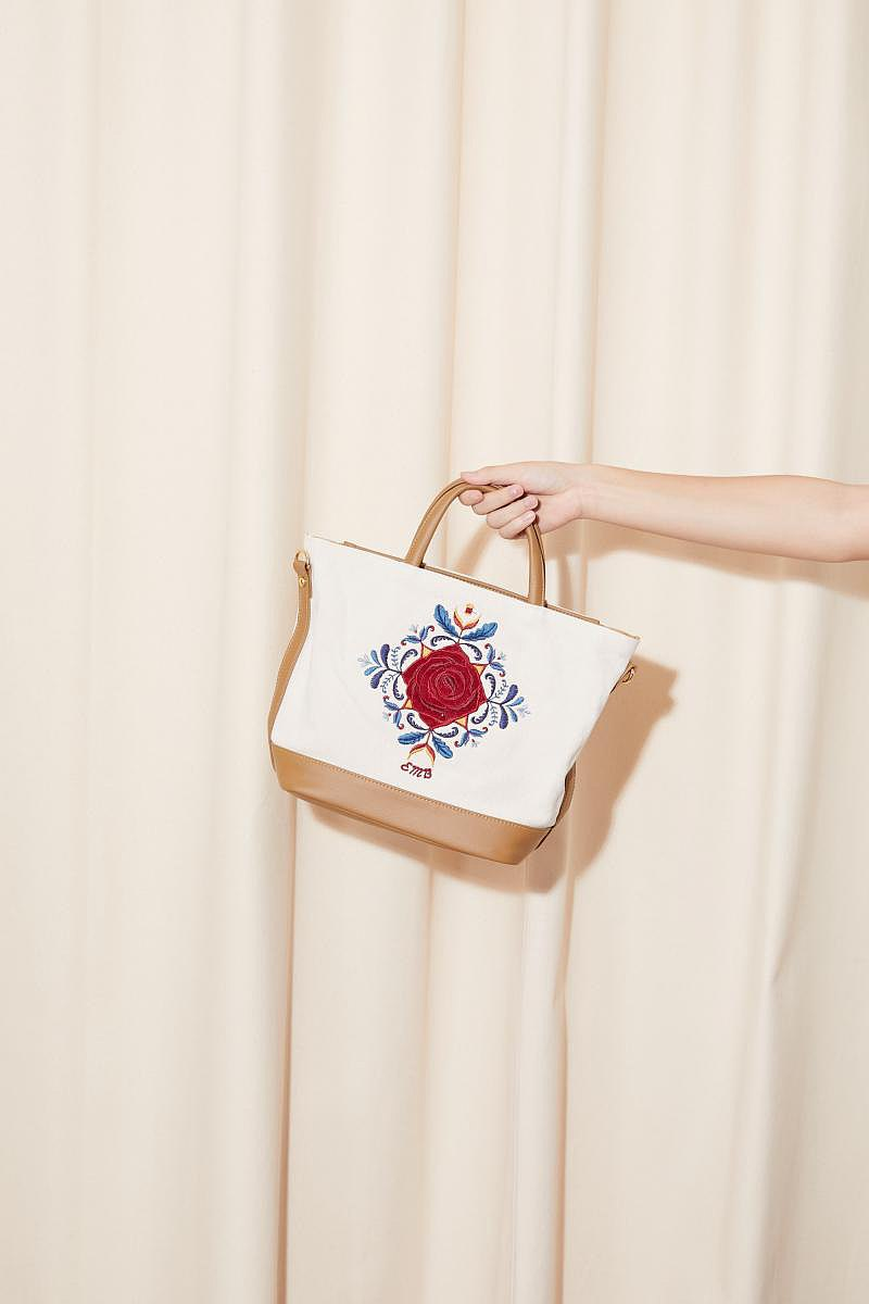包包 EMBROIDERER BANGKOK-vanessa bag (cream)