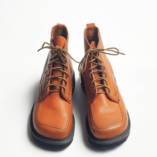 70s 美制焦糖笨踝靴|Knapp 6-eye Work Boots US 8D EUR 40 -Deadstock