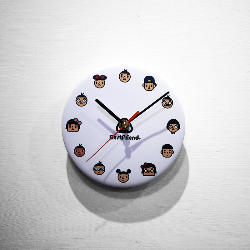 【BestFriend】Graphic Clock / 01-WHITE / 全员大集合-白