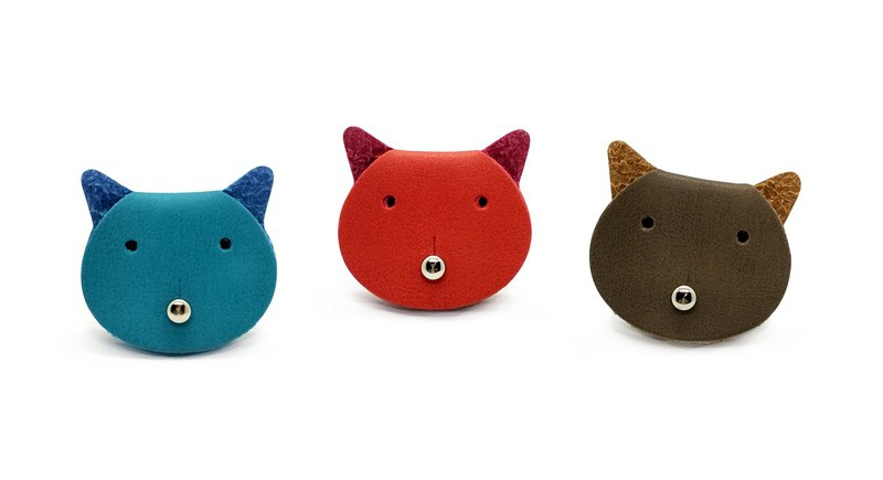 Worpi set of 3 Ear Bud Holders Charging Cable Organizers - Cat (random color)