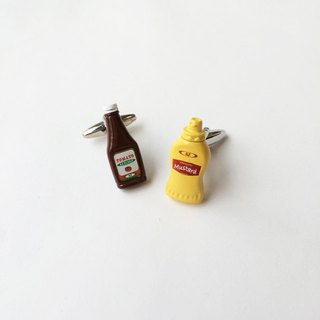 茄汁芥末袖扣 Ketchup and Mustard Cufflink