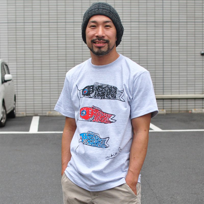 Koinobori Men's T-shirt Ash