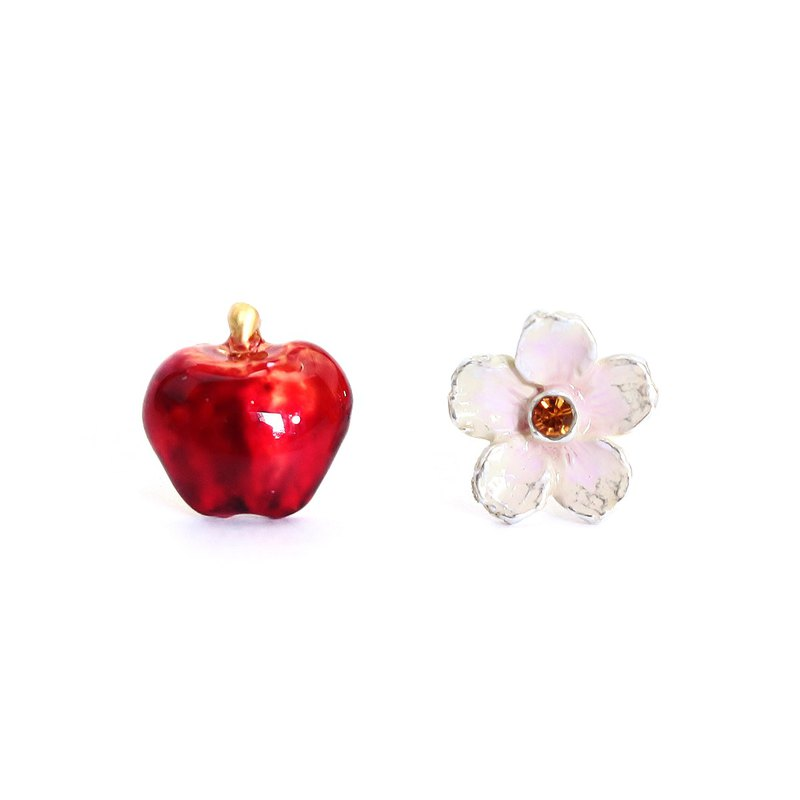 Flower & Apple Flower Apple Earrings PA441