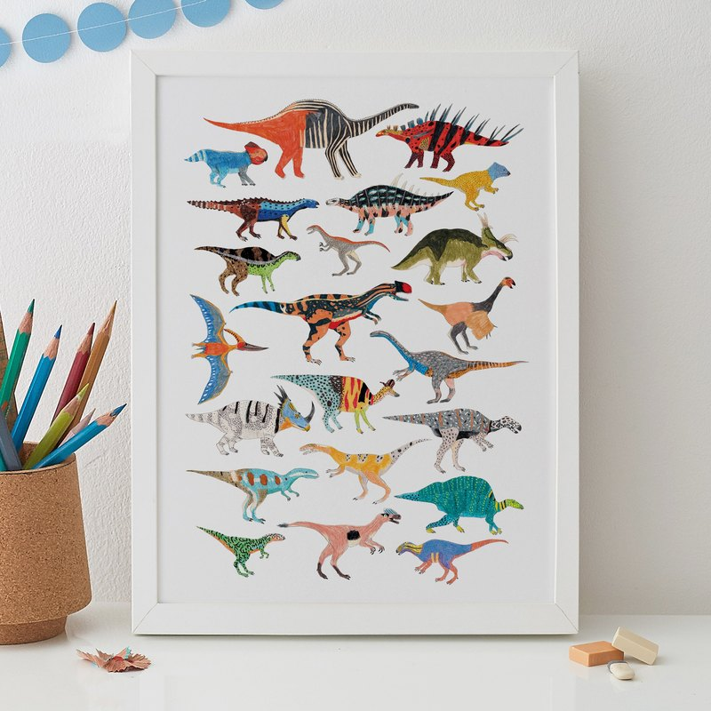 DINOSAURS PRINT 2ND EDITION (2017)