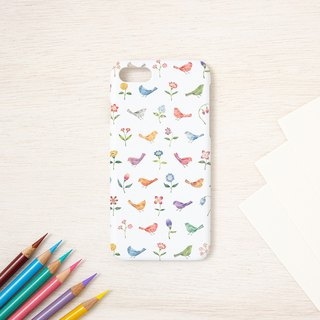 "Fragments of a picture book. Smartphone Case ""Multicolored birds and flowers"" SC-98"