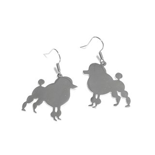 Poodle graphic earring