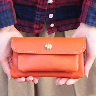 mare-wallet red Tochigi leather wallet