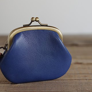 Leather Coin Purse Case Blue