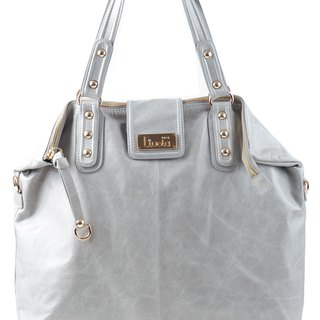 Kaia Italian Leather Bag Dove Grey
