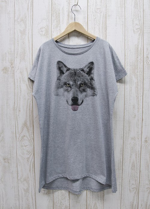 ronronWOLF Piece Tee Beh (Heather gray) / RPT021-GR