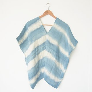 Karen tunic / Indigo almost stripe square shirt