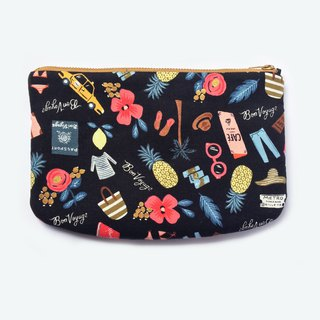 Bon Voyage Clutch Large Zipper Pouch Padded Travel Organsier